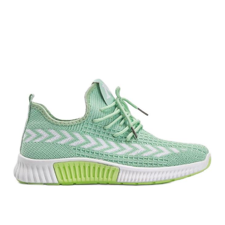 Zielone obuwie sportowe wsuwane Kaylee