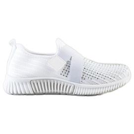 SHELOVET Buty Sportowe Z Kryształkami białe