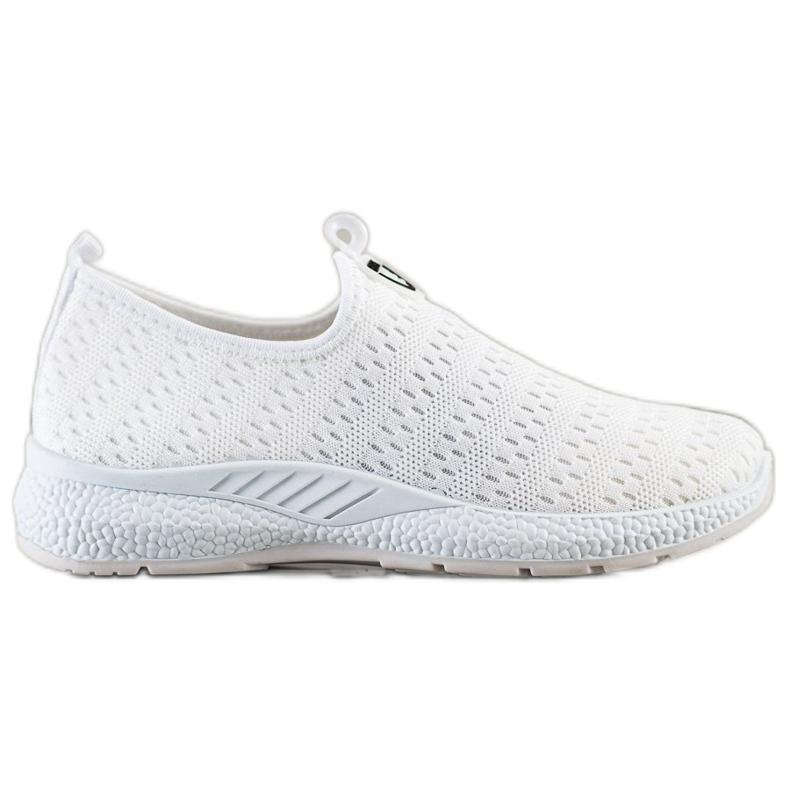SHELOVET Lekkie Wsuwane Sneakersy białe