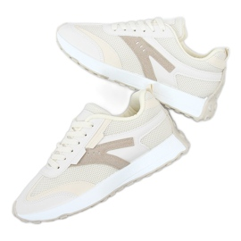 Buty sportowe beżowe 6115 Beige beżowy