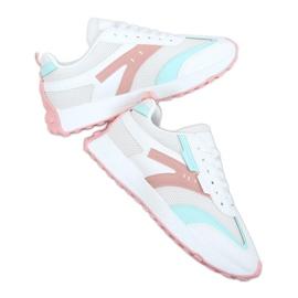 Buty sportowe wielokolorowe 6115 WHITE/PINK białe różowe
