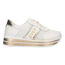 Sportowe buty damskie Filippo biało-złote białe złoty
