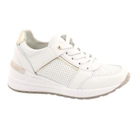 Sportowe buty damskie Filippo DP2003/21 białe złoty