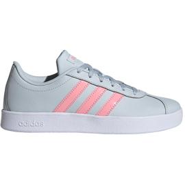 Buty dla dzieci adidas Vl Court 2.0 K niebiesko-różowe FY9151 niebieskie
