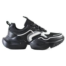 SHELOVET Lekkie Sportowe Sneakersy czarne