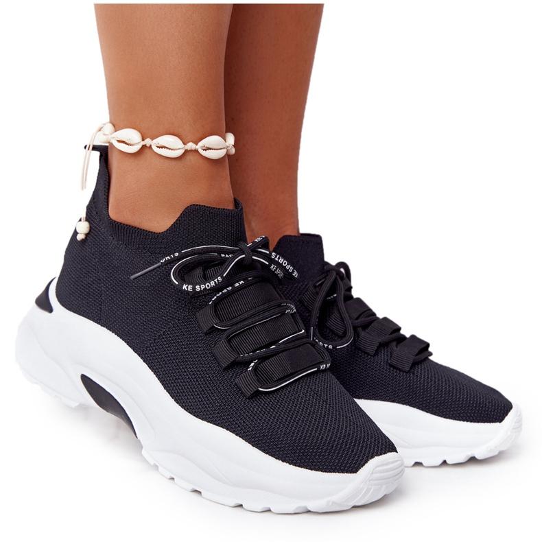 Damskie Sportowe Buty Skarpetkowe Czarne KeSports