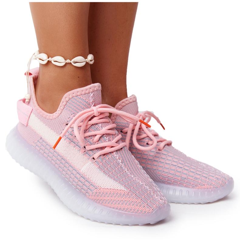 Damskie Sportowe Buty Na Żelowej Podeszwie Różowe Freestyler białe szare