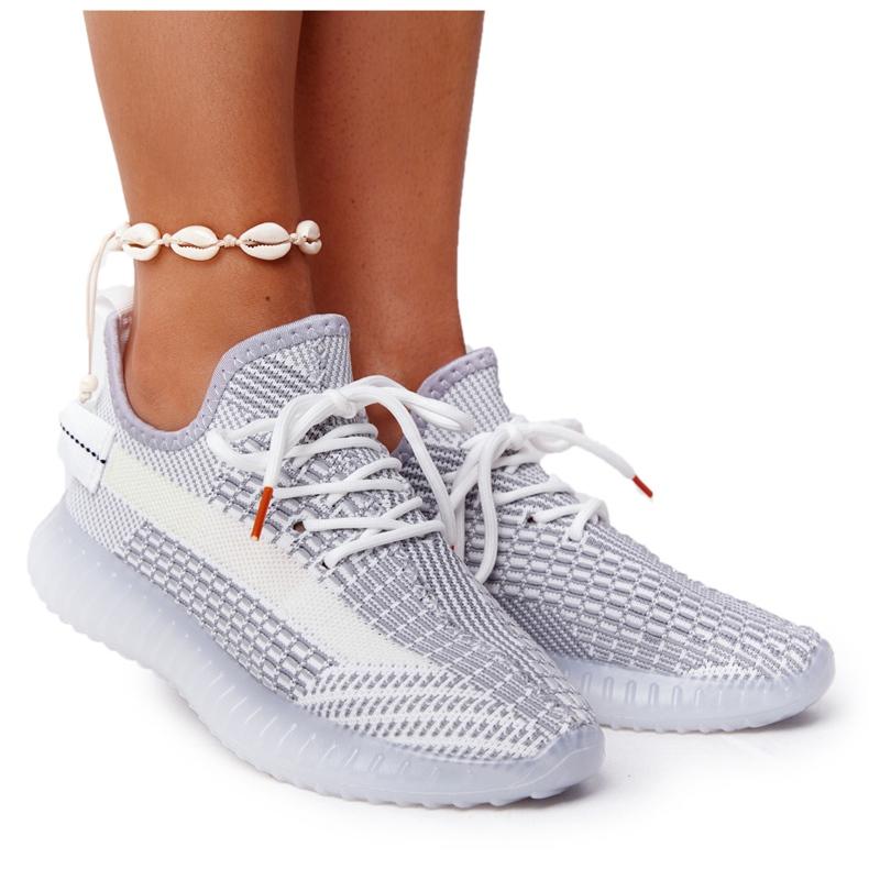 Damskie Sportowe Buty Na Żelowej Podeszwie Szare Freestyler białe
