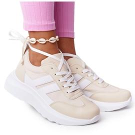 PS1 Damskie Sportowe Buty Sneakersy Beżowe Holiday beżowy białe