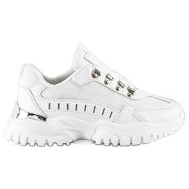 SHELOVET Białe Sneakersy