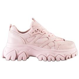 SHELOVET Różowe Sneakersy Fashion