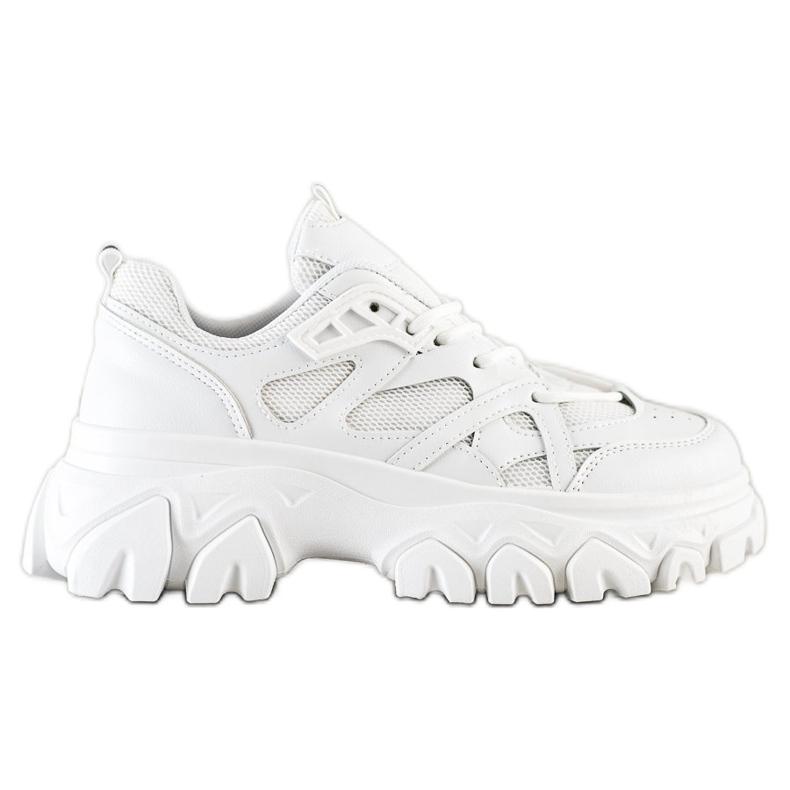 SHELOVET Białe Sneakersy Fashion
