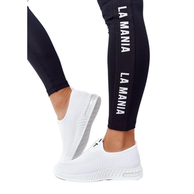 PS1 Damskie Sportowe Buty Slip-on Białe Be Stretchy