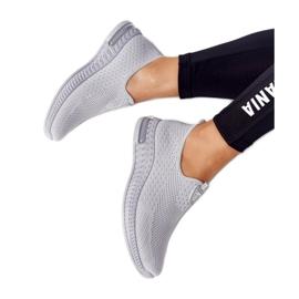 PS1 Damskie Sportowe Buty Slip-on Szare Be Stretchy