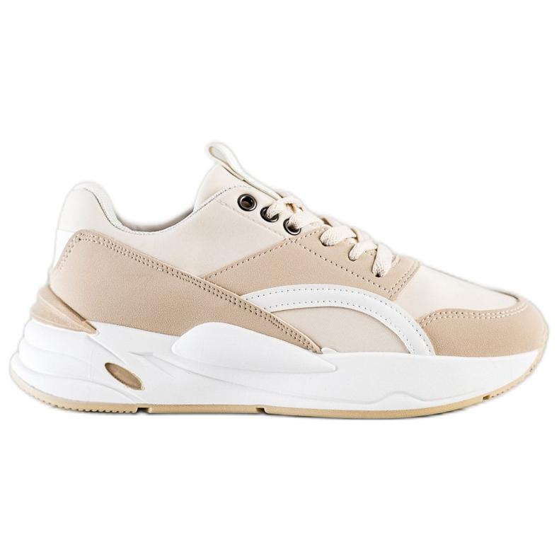 SHELOVET Buty Sportowe Bl213be beżowy brązowe