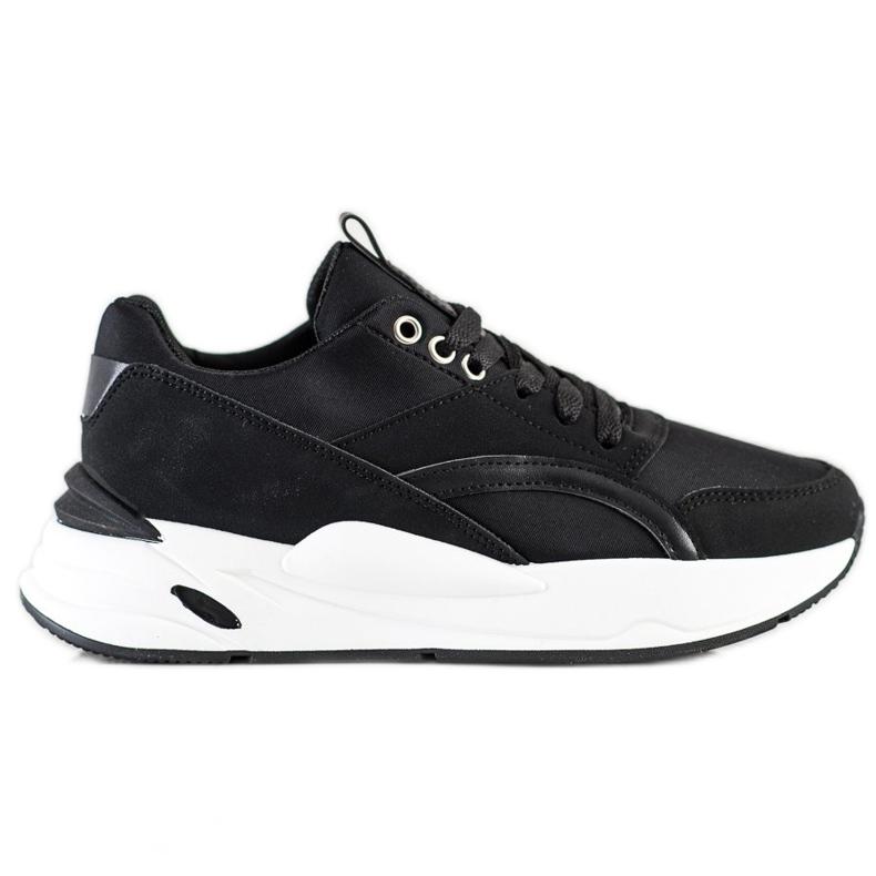 SHELOVET Klasyczne Sneakersy Na Platformie czarne