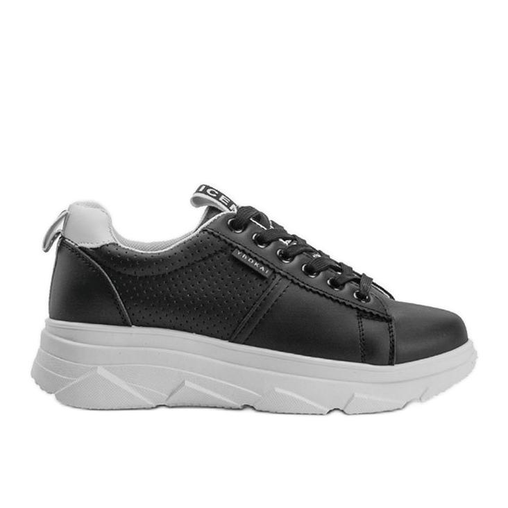 Czarne sneakersy sportowe Maniac