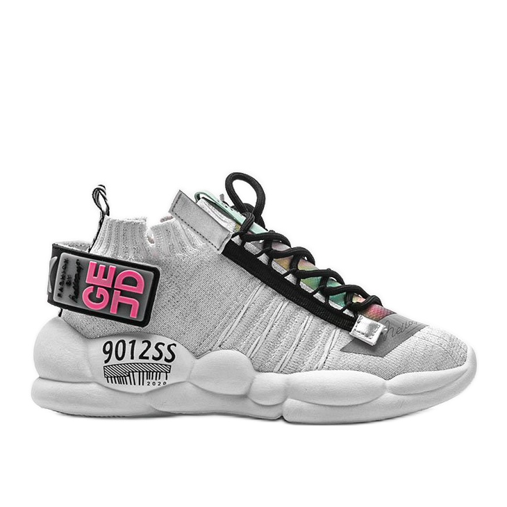 Sneakersy skarpetkowe białe Ava wielokolorowe