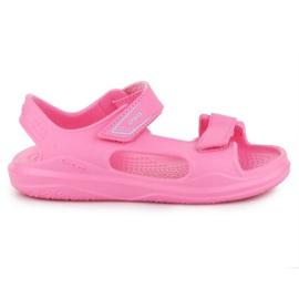 Sandały Crocs Swiftwater Jr 206267-6M3 różowe