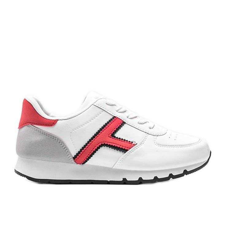 Białe casualowe obuwie sportowe damskie Lizabeth
