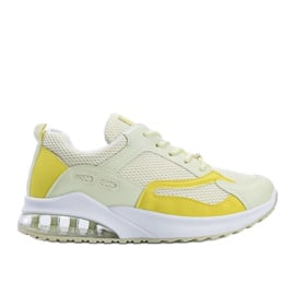 Żółte obuwie sportowe damskie Alize