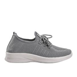 Szare obuwie sportowe Kari