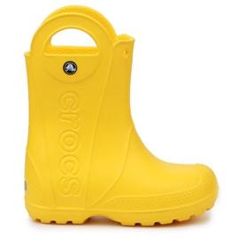 Buty Crocs Handle It Rain Boot Jr 12803-730 brązowe żółte