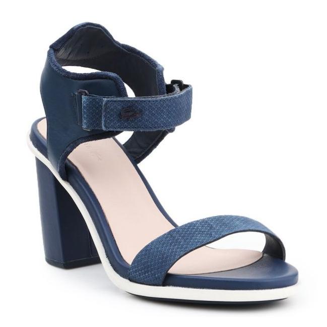 Sandały Lacoste Lonelle Heel Sandal 116 1 W Caw 7-31CAW0112003 granatowe