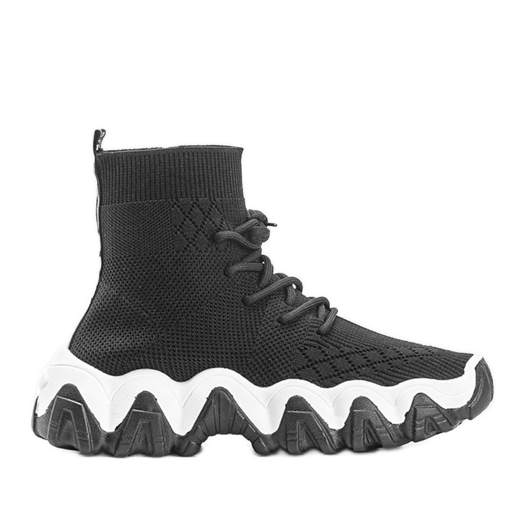 Czarne sneakersy skarpetkowe Gisselle