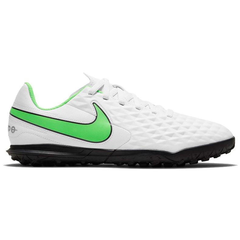 Buty piłkarskie Nike Tiempo Legend 8 Club Tf Junior AT5883 030 białe białe