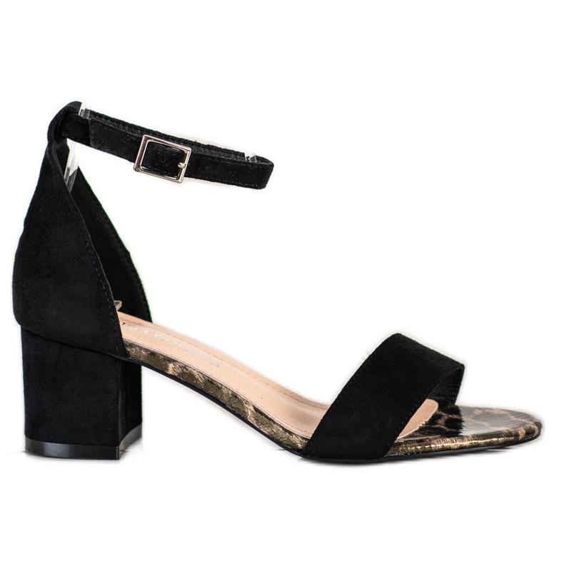 Sandały Na Słupku Sergio Leone czarne