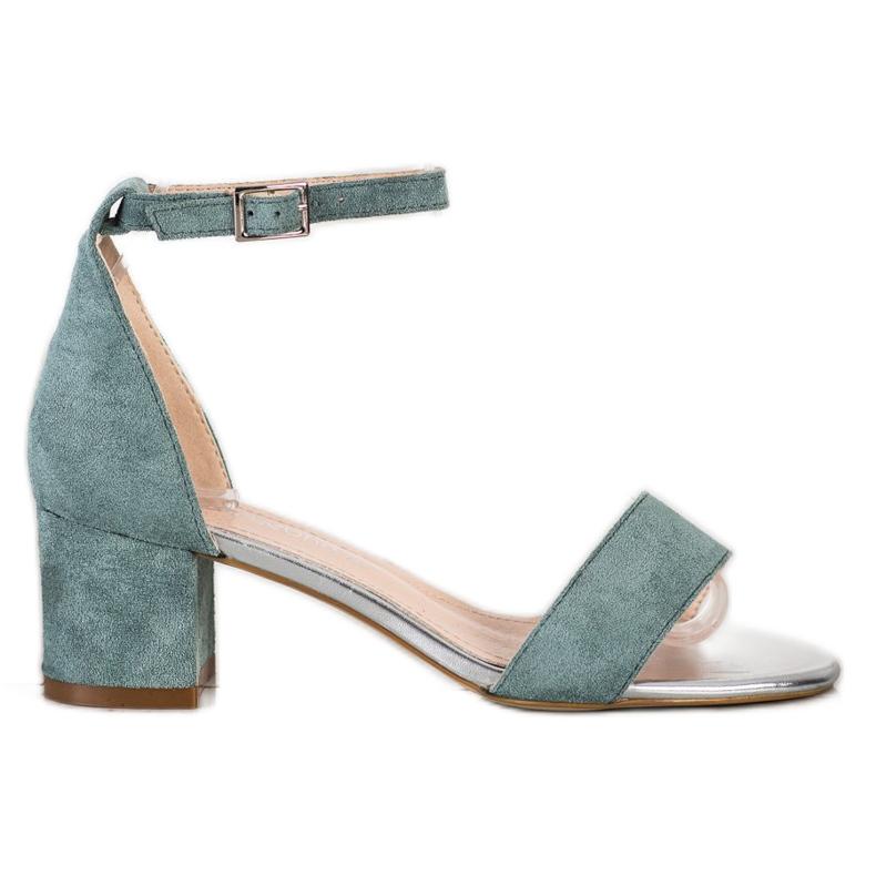Sandały Na Słupku Sergio Leone zielone