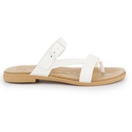 Klapki Crocs Tulum Toe Post Sandal W 206108-1CQ białe