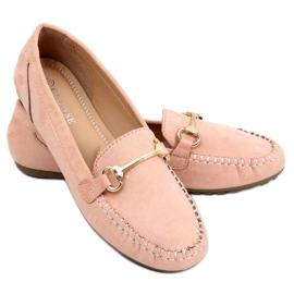 Mokasyny damskie różowe 0F219 Pink