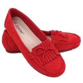 Mokasyny damskie czerwone GS11P Red