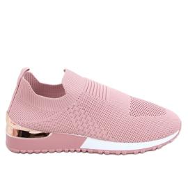 Buty sportowe skarpetkowe różowe LDH006 Pink