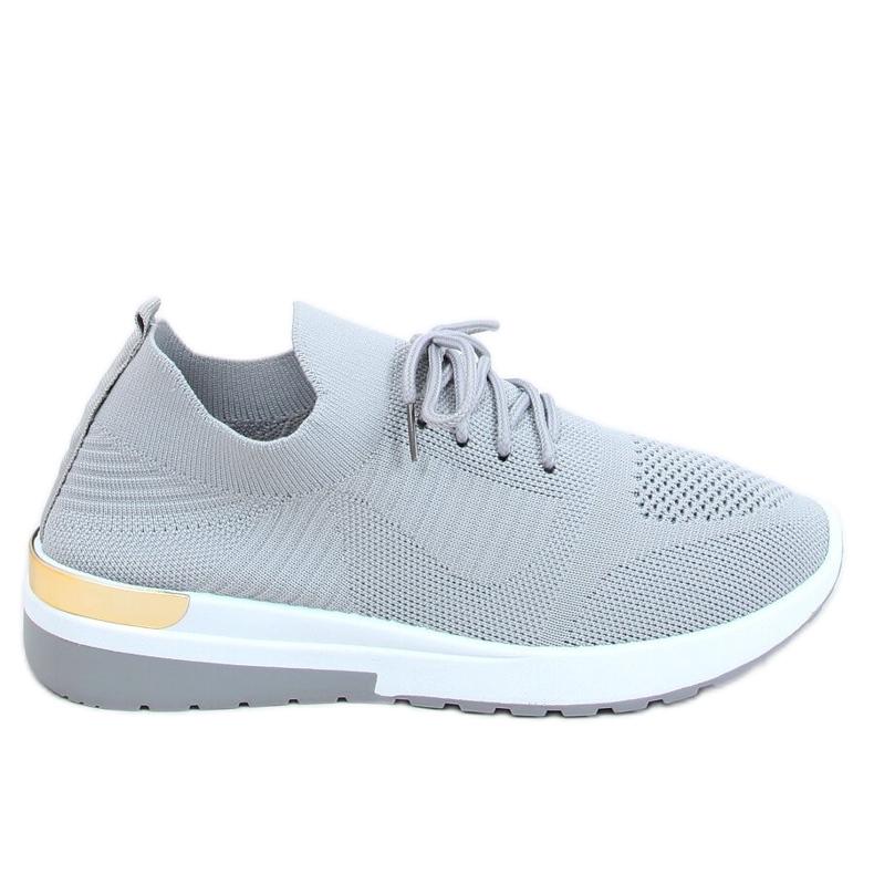Buty sportowe skarpetkowe szare G-363 Gray