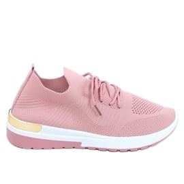 Buty sportowe skarpetkowe różowe G-363 Pink