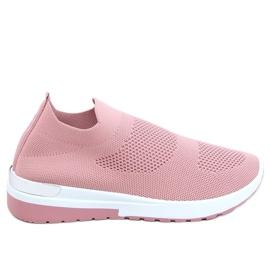 Buty sportowe skarpetkowe różowe G-362 Pink