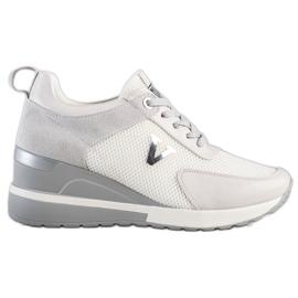 Casualowe Sneakersy VINCEZA białe szare