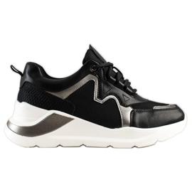 Weide Wygodne Stylowe Sneakersy czarne
