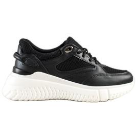 Weide Czarne Sneakersy Z Brokatem