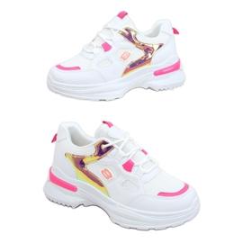 Buty sportowe damskie biało-różowe HX-68 Red białe