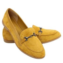 Mokasyny damskie musztardowe 8742 Yellow żółte