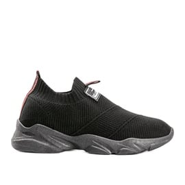 Czarne sneakersy sportowe Justice