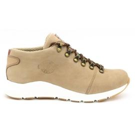 ButBal Damskie buty trekkingowe 674BB beżowe beżowy