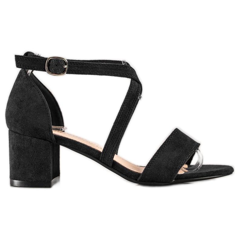 Sandały Z Paseczkami Sergio Leone czarne