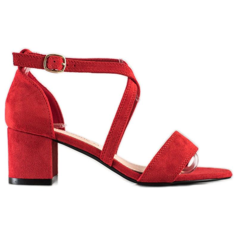 Sandały Z Paseczkami Sergio Leone czerwone