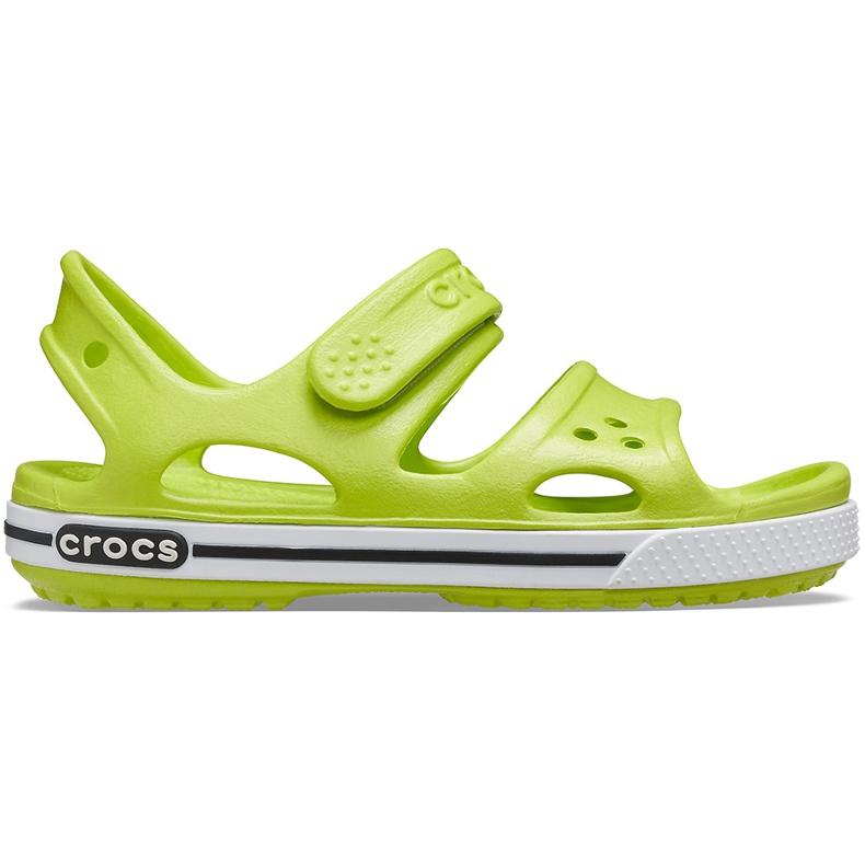 Crocs sandały dla dzieci Crocband Ii Sandal limonkowo-czarne 14854 3T3 zielone
