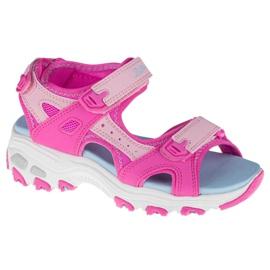 Sandały Skechers D'Lites Jr 664133L-HPMT różowe